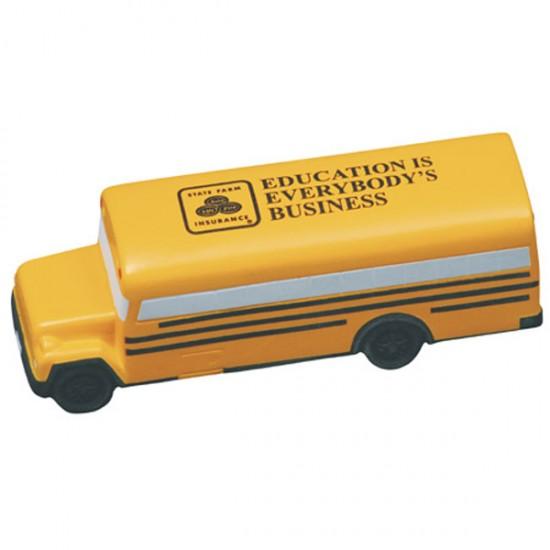 Custom Logo Conventional School Bus Stress Toy
