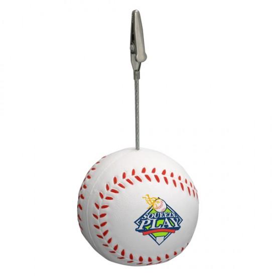 Custom Logo Baseball Memo Holder/ Stress Toy