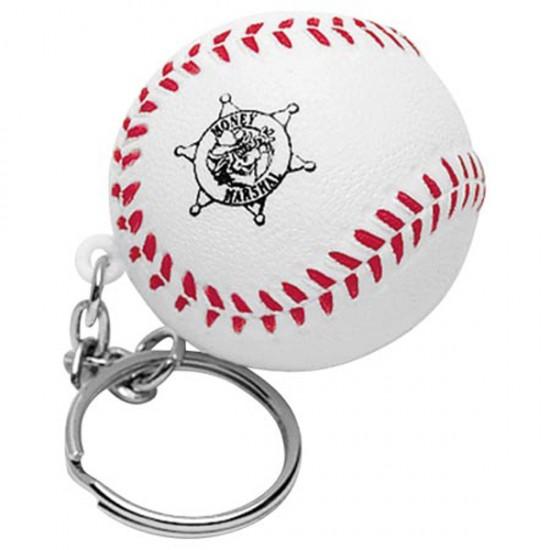 Custom Logo Baseball Stress Reliever Keychain