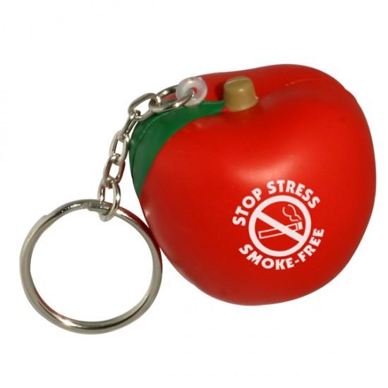 Custom Logo Apple Key Chain/ Squeeze Toy
