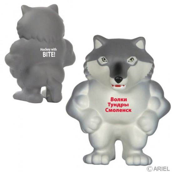 Custom Logo Wolf Mascot Stress Toy