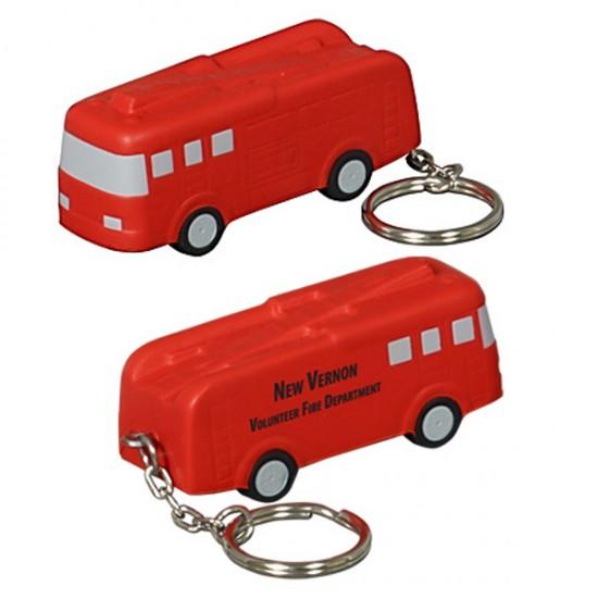 Custom Logo Fire Truck Key Chain/ Stress Toy