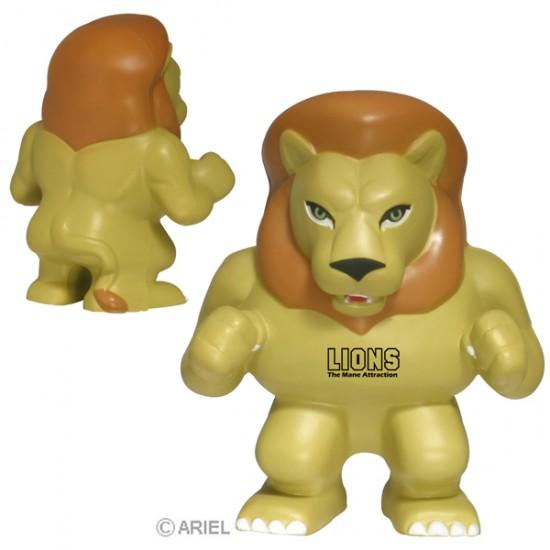Custom Logo Lion Mascot Stress Toy