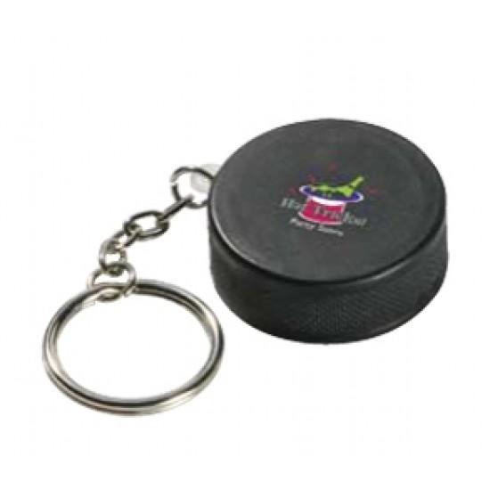 Custom Logo Hockey Puck Key Chain/ Stress Toy